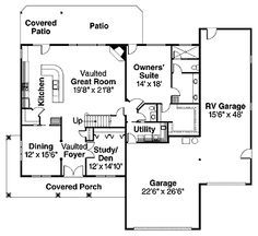 floor plans for house with RV garage - Google Search … | Pinteres…