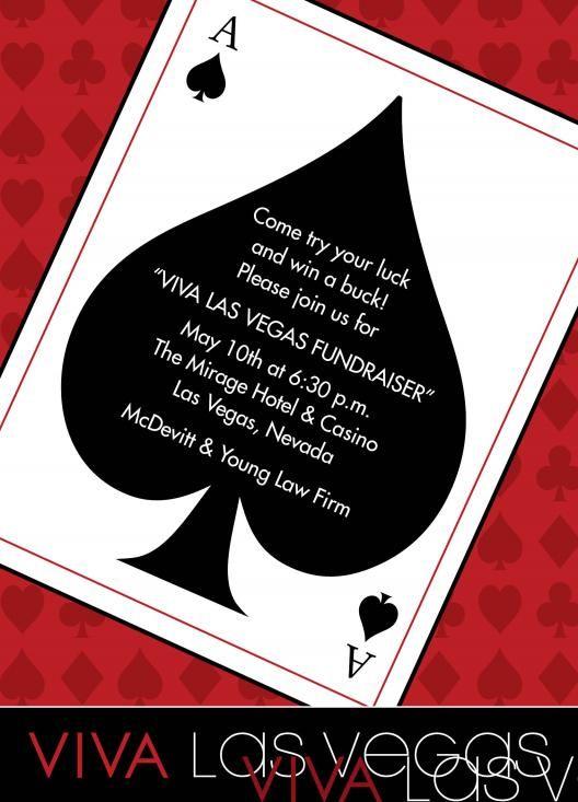 Casino Birthday Party Invitations   Las Vegas Party ...