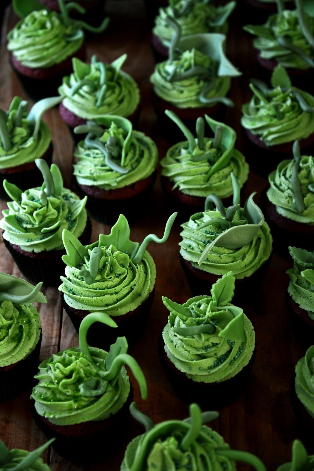Little Shop of Horrors Cupcakes From The Kitchen (Red Velvet with ...