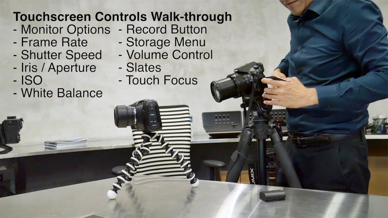 Blackmagic Pocket Cinema Camera 4k Review Touchscreen Controls Walk Th Cinema Camera Touch Screen Camera