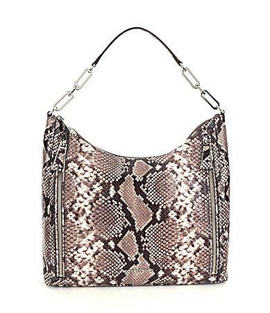 MICHAEL Michael Kors Matilda PythonEmbossed Shoulder Bag #Dillards