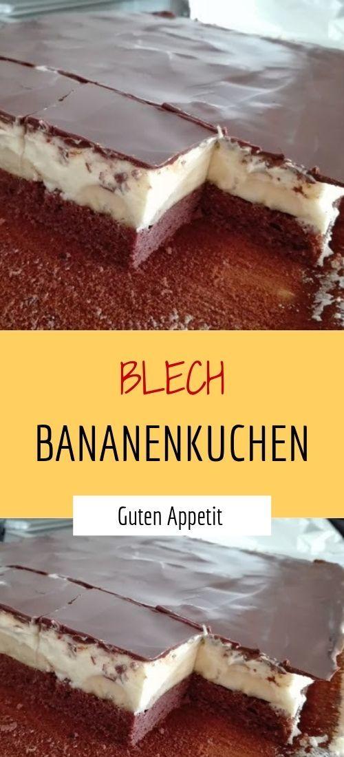 Blech Bananenkuchen #blech #blechkuchen #blechpfanne #bananenkuchen
