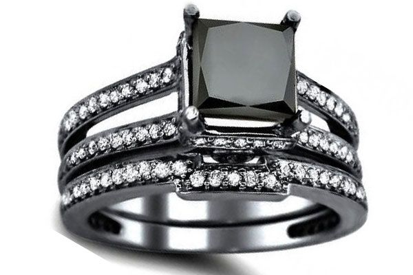 black diamond engagement ring make your day special with exotic engagement rings - Exotic Wedding Rings