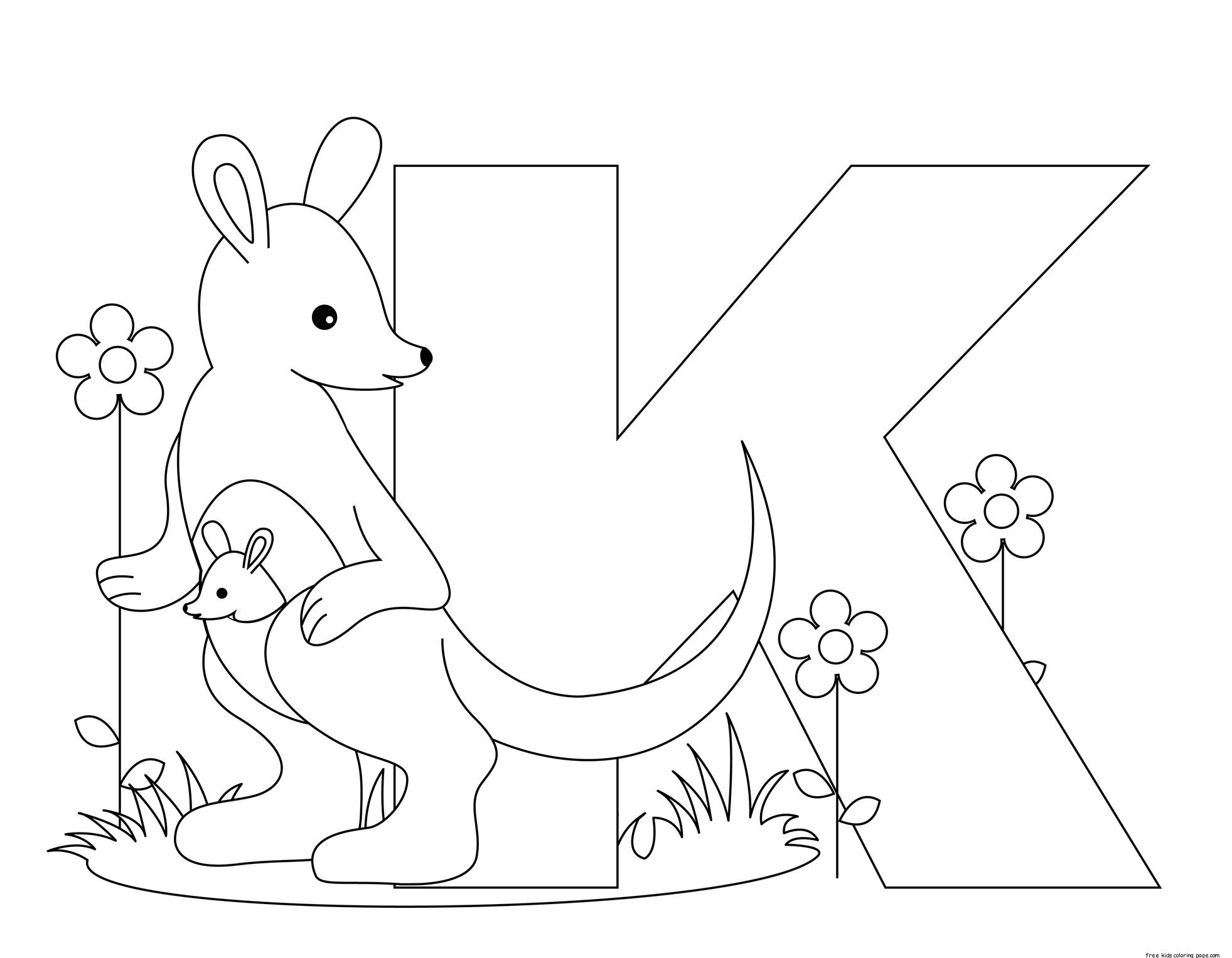 Printable-Animal-Alphabet-Letter-K-for-Kangaroo.jpeg (1963×1527 ...