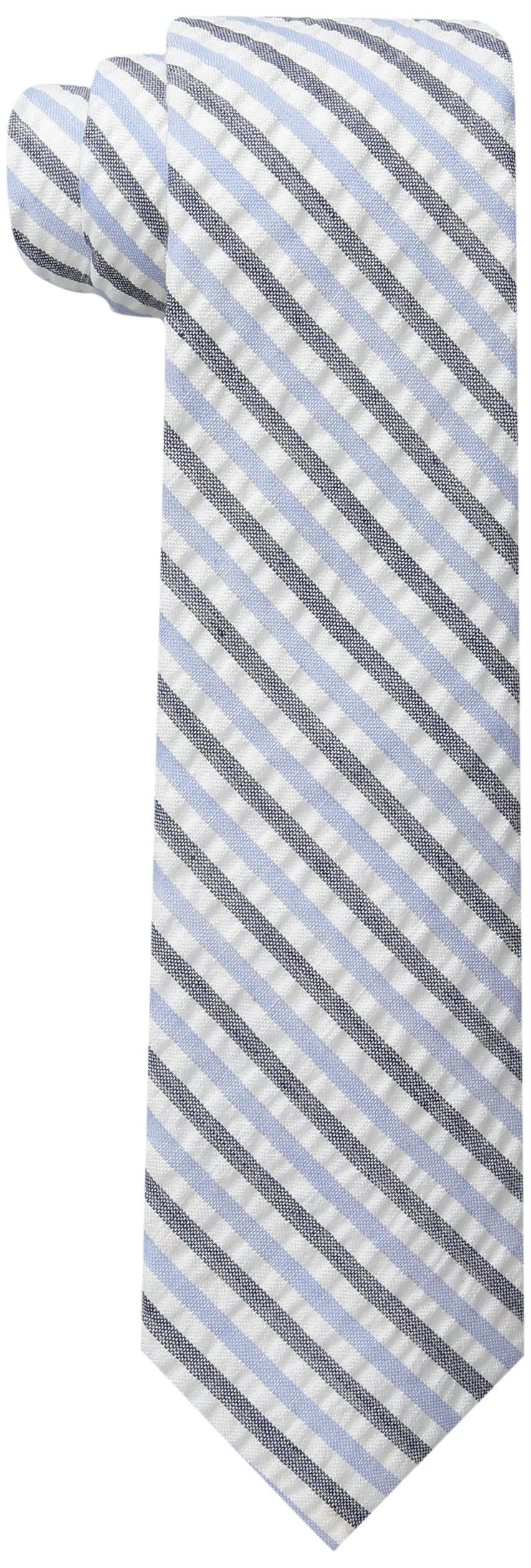 Wembley Big Boys Lyon Stripe Tie, Blue, One Size. 48 inch. Self-tie boys tie (not pre tied).