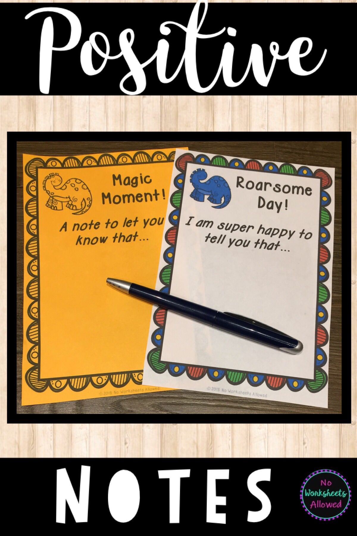 Positive Notes Home To Parents Dinosaur Theme
