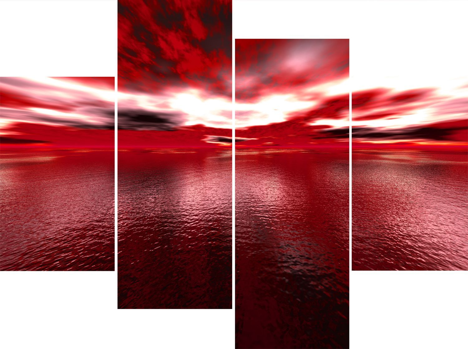 Bon Red Wall Art | ... Panel Red Sea Andros Vision Canvas Pictures Exclusive  Wall