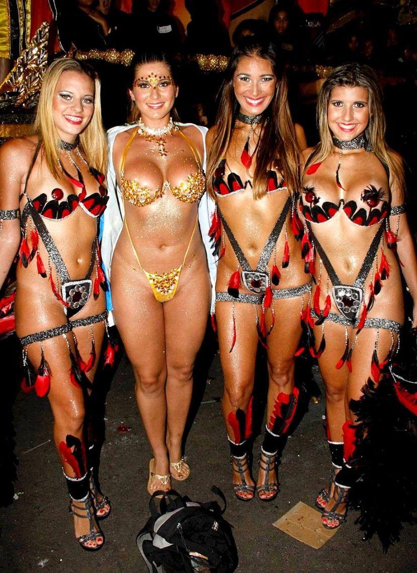 Ночной бразильский порно карнавал в Рио Де Жанейро
