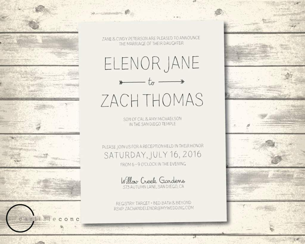 Casual Wedding Invitation Wording httponlineweddinginvitations