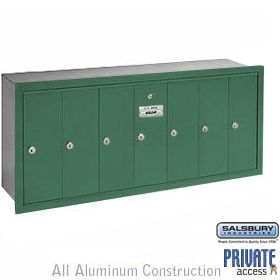 Salsbury 3507rp Vertical Mailbox 7 Doors Bronze Recessed Mounted Private Access Commercial Mailboxes Salsbury Industries Recess