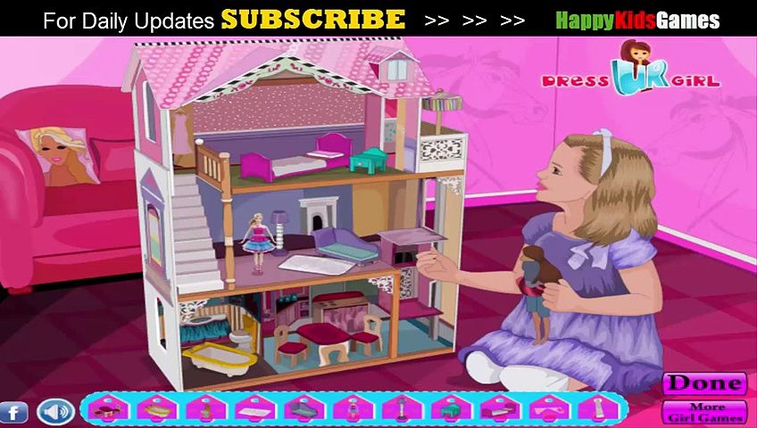 Barbie House Decoration Games