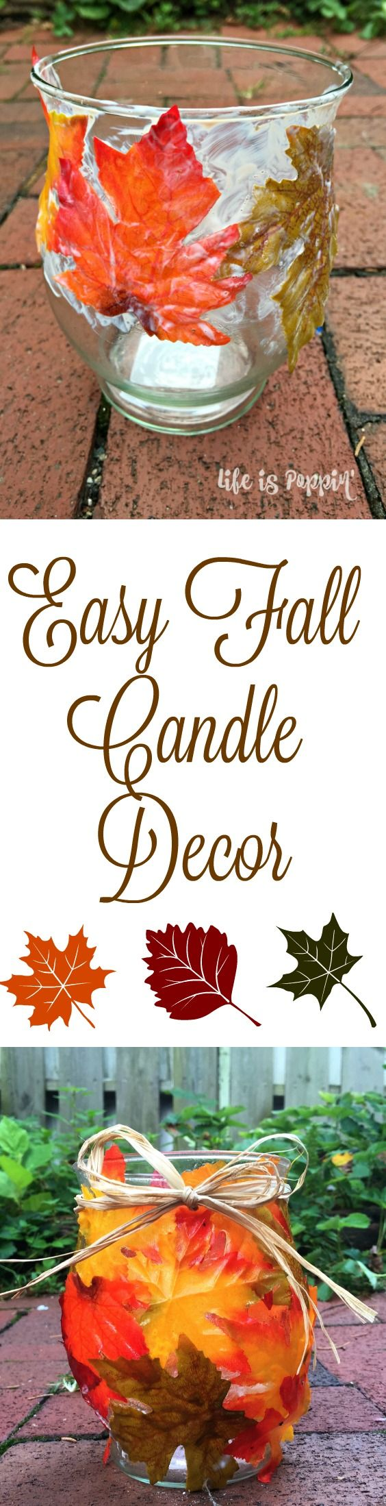 We all know that mason jars are all the rage when it comes to home decor. There are a million and one ways to jazz up a cheap mason jar and these easy fall candle holders are exactly what you've been looking for to make your home a little more autumn