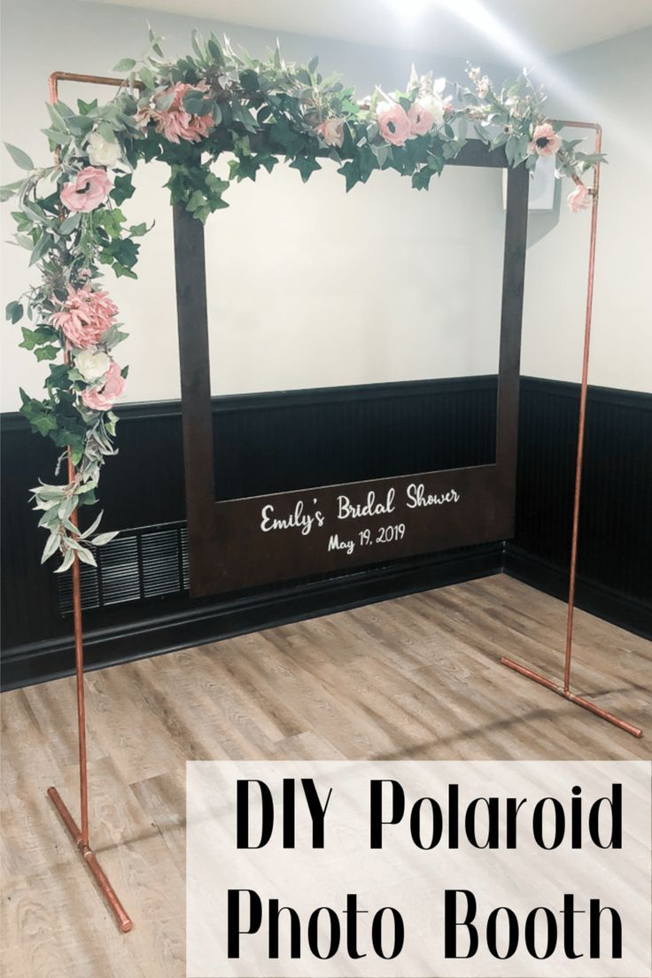 DIY Oversized Polaroid Photo Booth