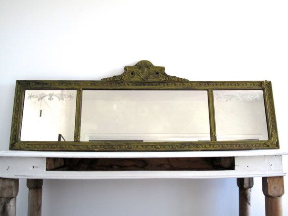 Antique Framed Mantle Mirror Antique Wall By