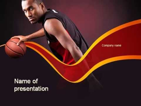 Basketball Theme Powerpoint Template  HttpWwwYoutubeCom