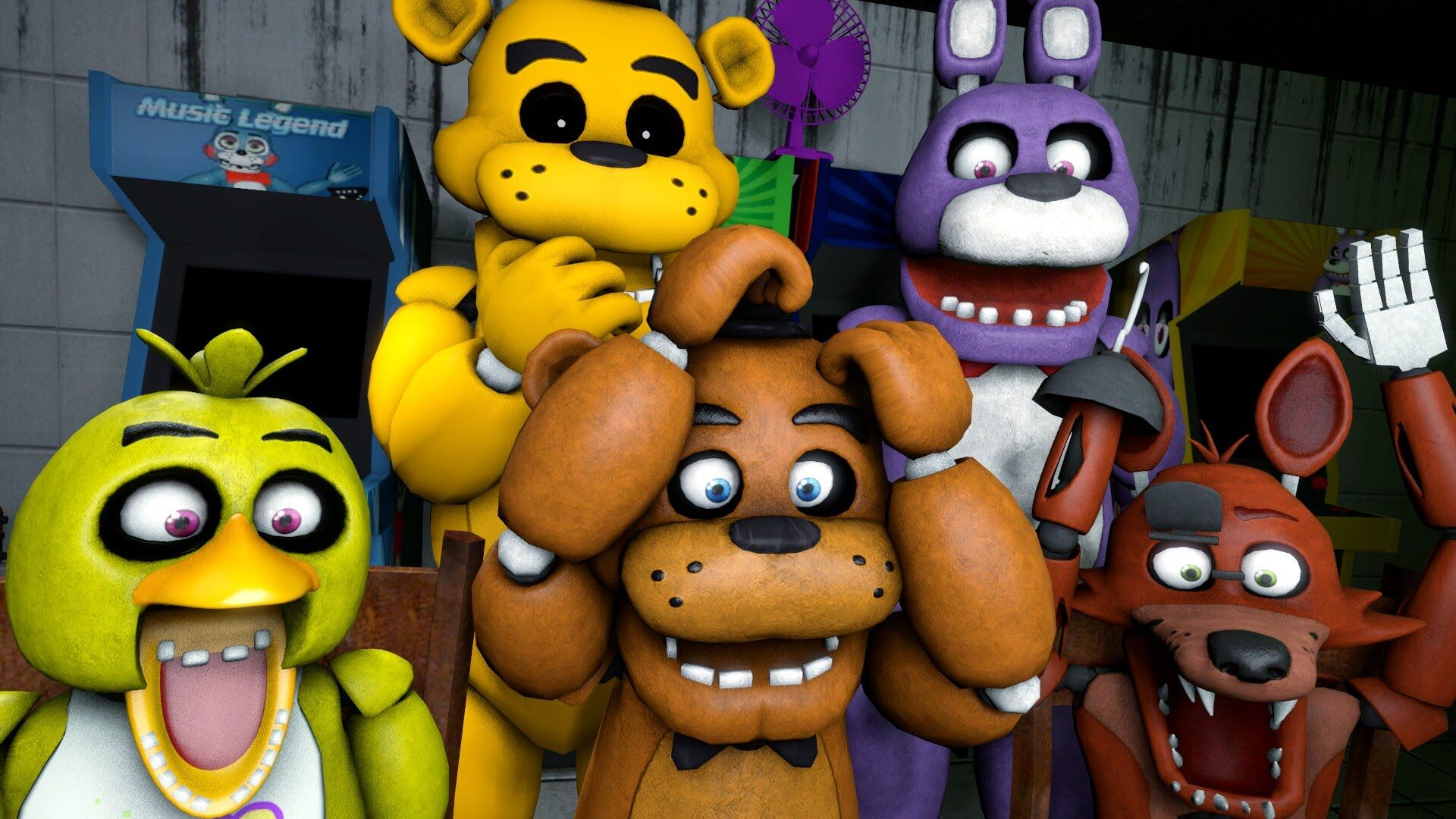 animatronics reaction to five