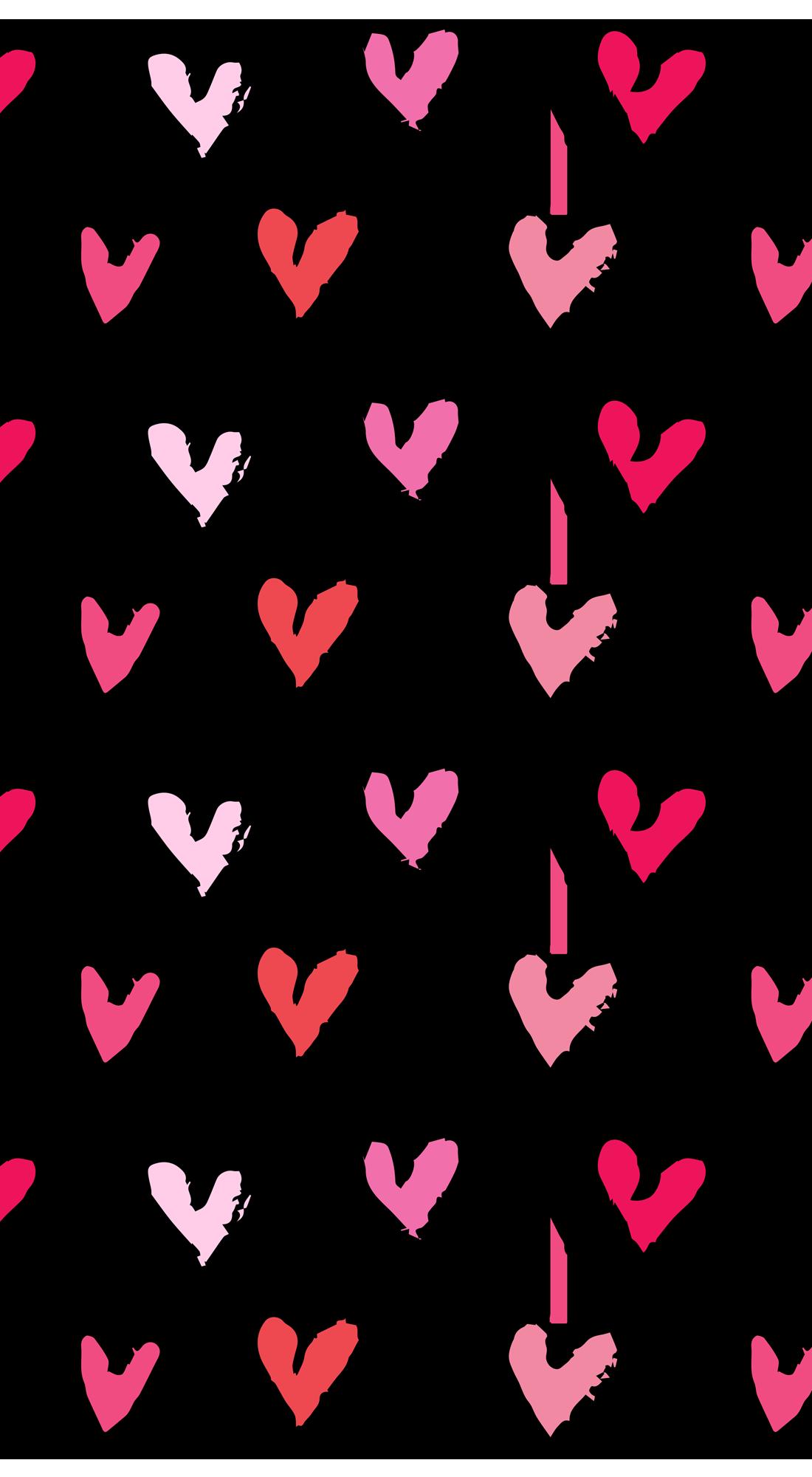 Hearts Casetify Iphone Art Design Cute Heart Iphone Background Art Valentines Wallpaper Iphone Wallpaper