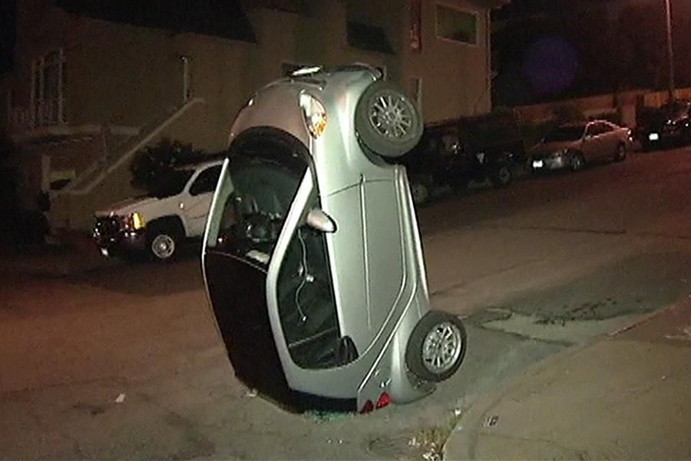 High tech cow tipping? Police search for vandals tipping smart cars ...