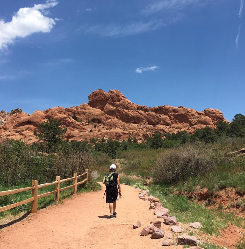 My son hiking in Garden of the Gods 2017 Natural