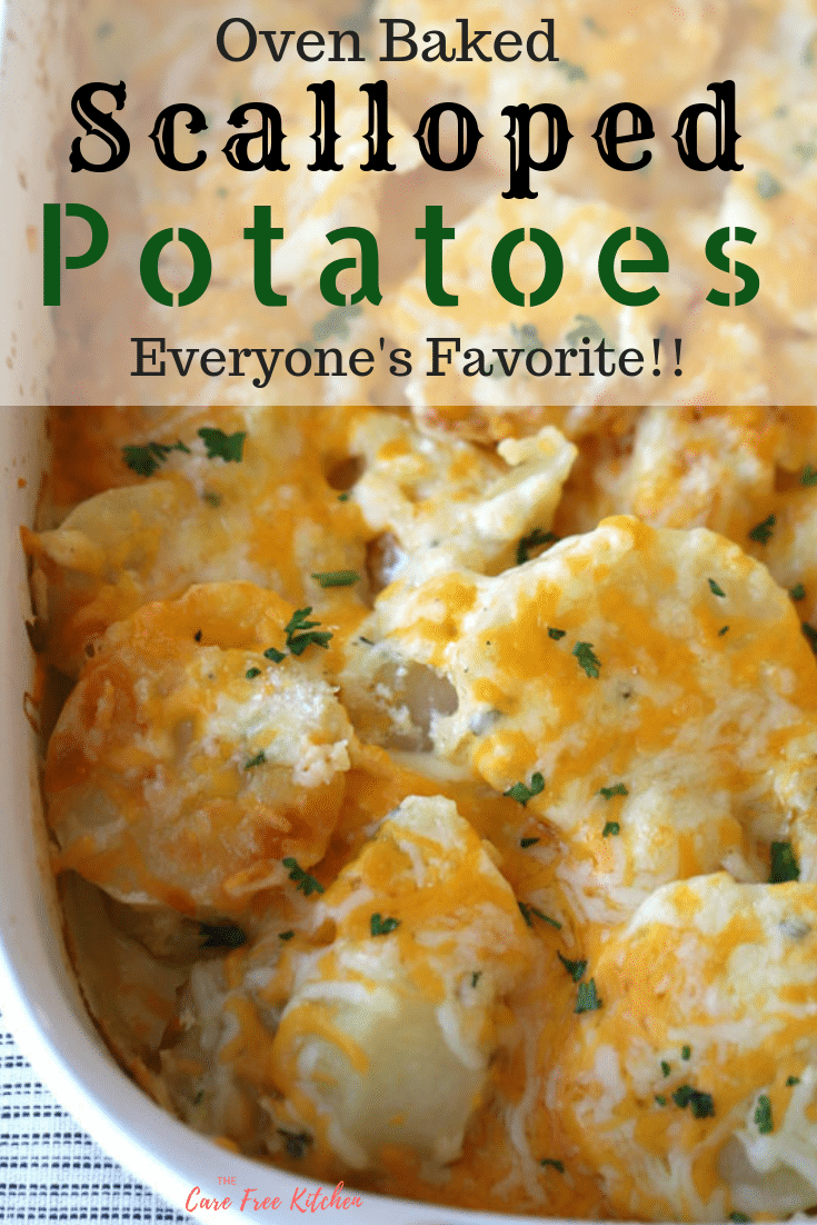 Best Scalloped Potatoes | thecarefreekitchen #russetpotatorecipes