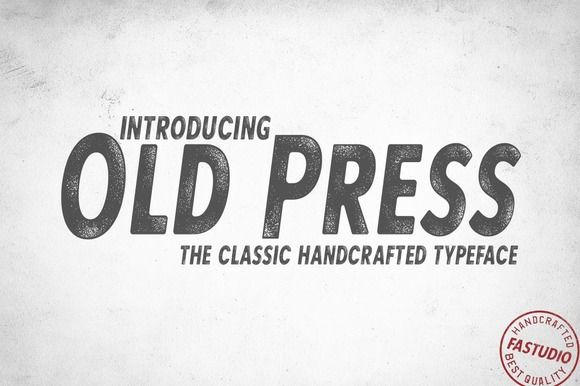 The Old Press Classic by FAStudio on @creativemarket