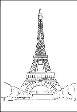 Malvorlage Vom Eiffelturm In Frankreich Coloring Pages Pinterest