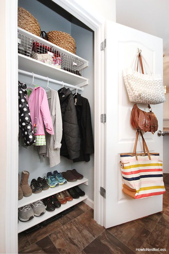 Inspiring Entryway Organization Ideas Coat Closet Organization