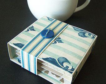 tea gift box holder for 4 tea bags gift presentation or