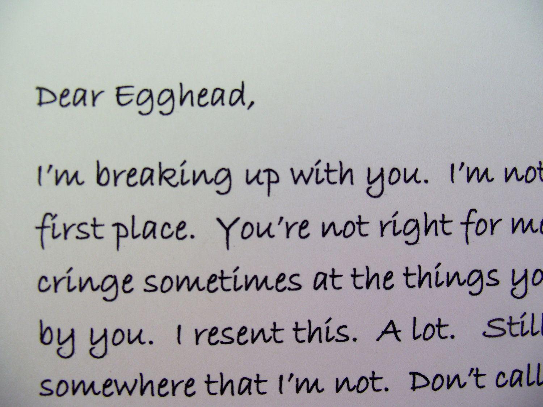 Dear John Letter Anti Valentine Card Unvalentine Pinhead Best