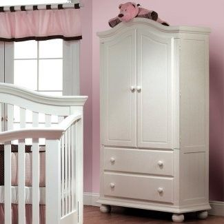 Sorelle Vista Collection Armoire In French White Furniture