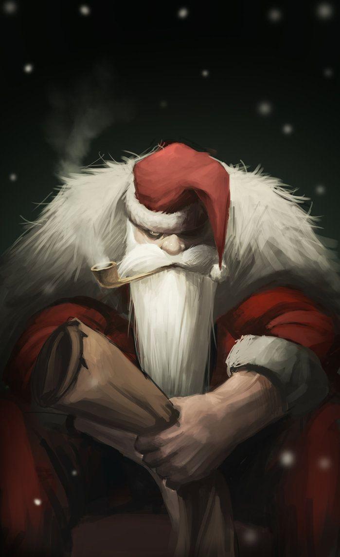 Santa Claus By Joshcorpuz85 On Deviantart Santa Art Scary Christmas Christmas Horror
