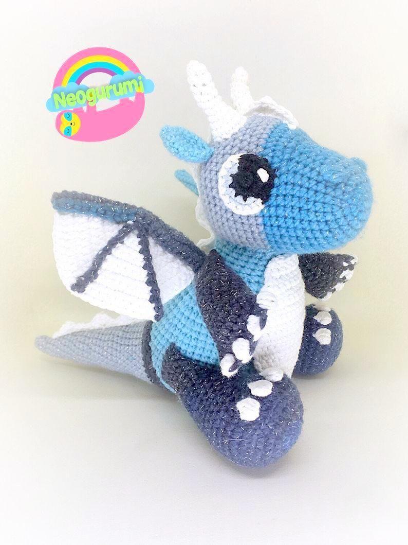 Dragon | Patrón de dragón de crochet, Dragón de ganchillo, Patrón ... | 1059x794