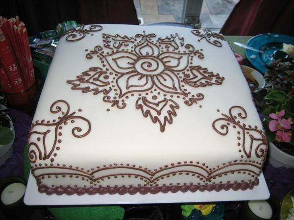 Mehndi Cake Tutorial : Henna cake decorating cakes and cookies