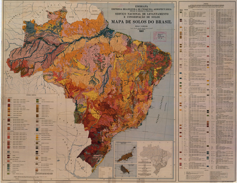 Complete soil map of Brazil Complete soil