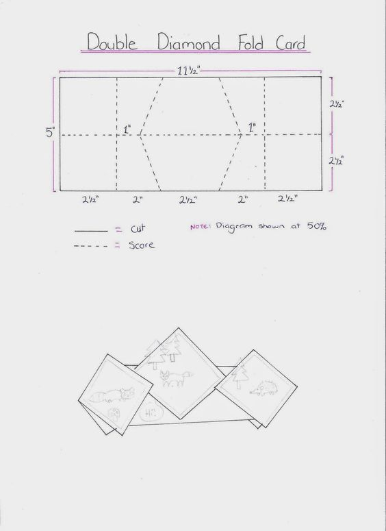 Stampin It Up With Belinda Double Diamond Fold Card Good Pictures On Here Card Making Templates Fancy Fold Cards Card Patterns