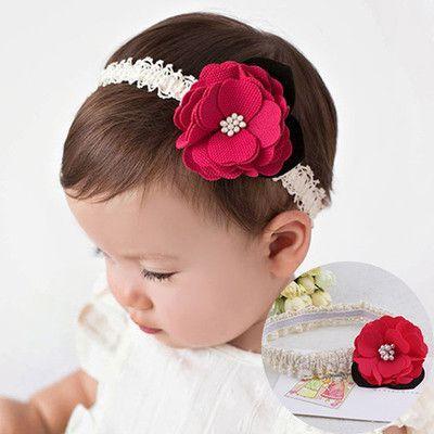 1PC New Cute Newborn Hairbands Big Flowers Bow Elastic Hair bands Rubber  Band Baby Headband Children Hair Accessories Headwear 3521a2505e9