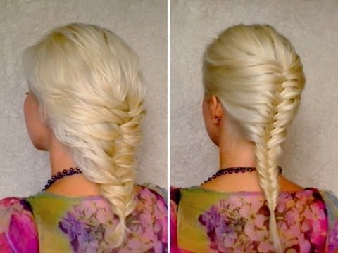 Elegant Soft french fishtail braid hairstyle Simple - Luxury herringbone braid Amazing