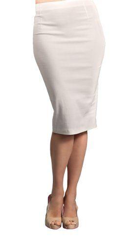 Suddenly Fem Ivory Pencil Skirt for Crossdressing and Transgender ...