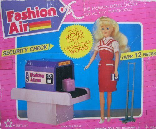 Fashion Air Security Check Playset 12 Pieces For Barbie 11 1 2 Fashion Dolls 1990 Meritus By Meritus Industries Barbie Playsets Barbie Toys Barbie Sets
