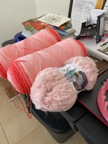Photo of Ombré and Faux Fur yarn
