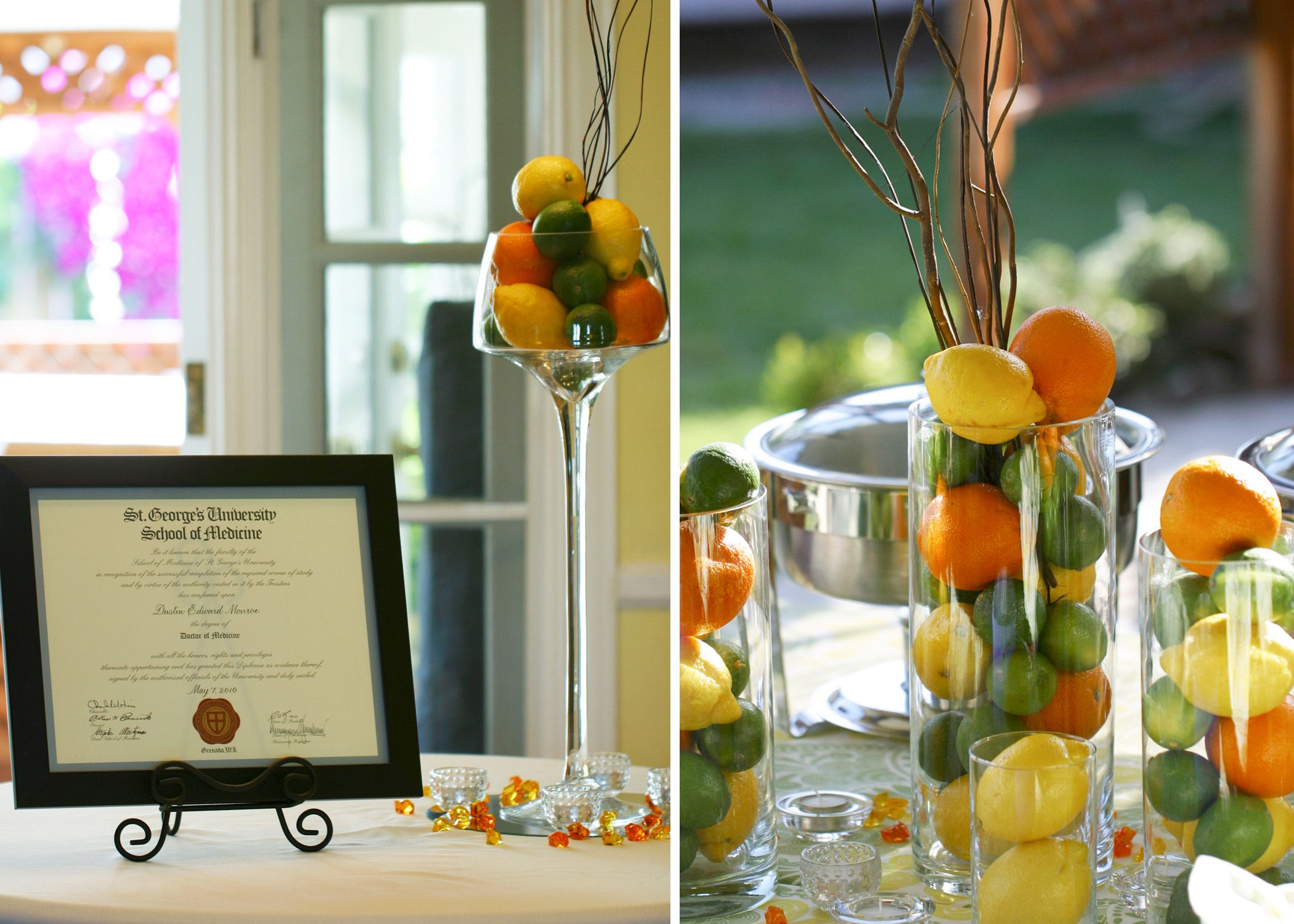 Medical School Graduation Party || citrus inspired garden party ...