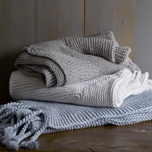 West Elm Throw Blanket Extraordinary Chunky Tassel Throw  West Elm  Found On Lark & Linen  Objects Inspiration Design