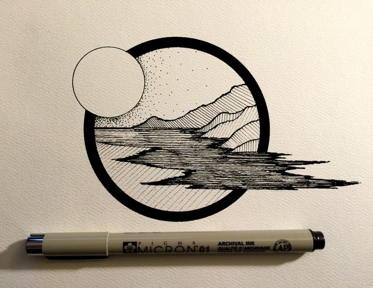 Daily drawings by derek myers drawings tattoo and doodles for Ink drawings easy