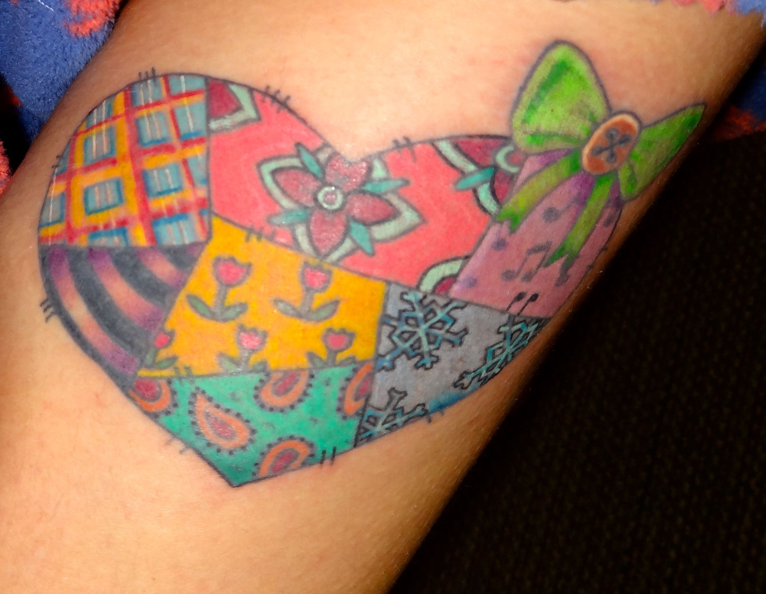Quilt Patch Tattoo & 55 Best Sewing/Quilting/Crafting Tattoos ... : quilt patch tattoo - Adamdwight.com