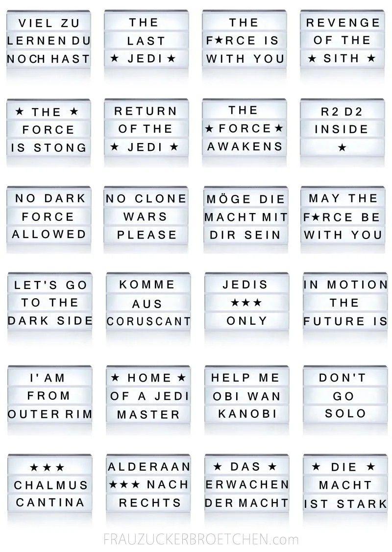 Lightbox Star Wars Cinema Light Box Quotes Light Box Quotes Light Box