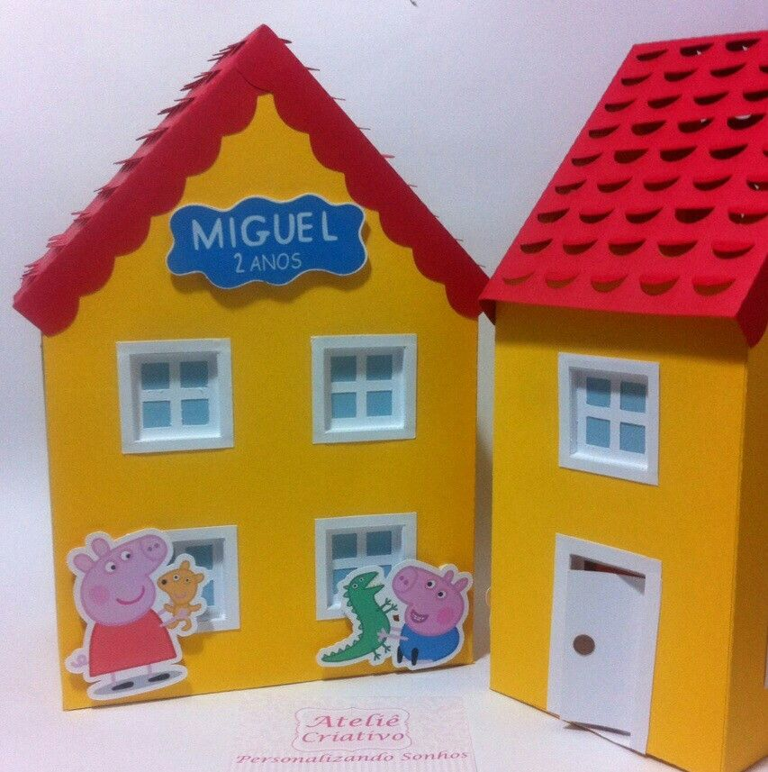 Casa Peppa Pig GG Centro de Mesa no Elo7   Atelie Criativo - Personalizando  Sonhos (50A84D)