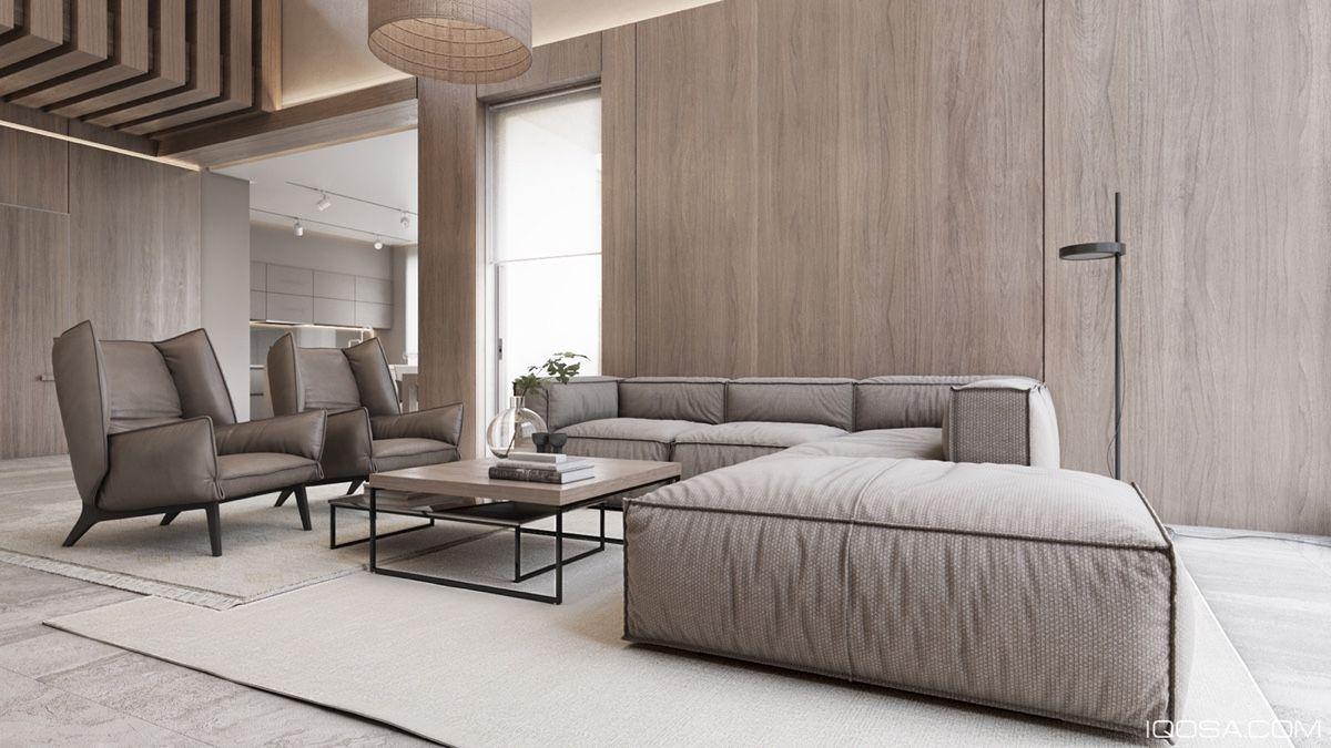 2 luxury homes with beige focused interior design living meubels