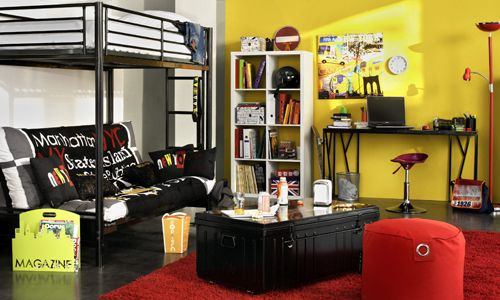 Decoration Chambre Theme New York Chambre Ado Chambre Ado Lit