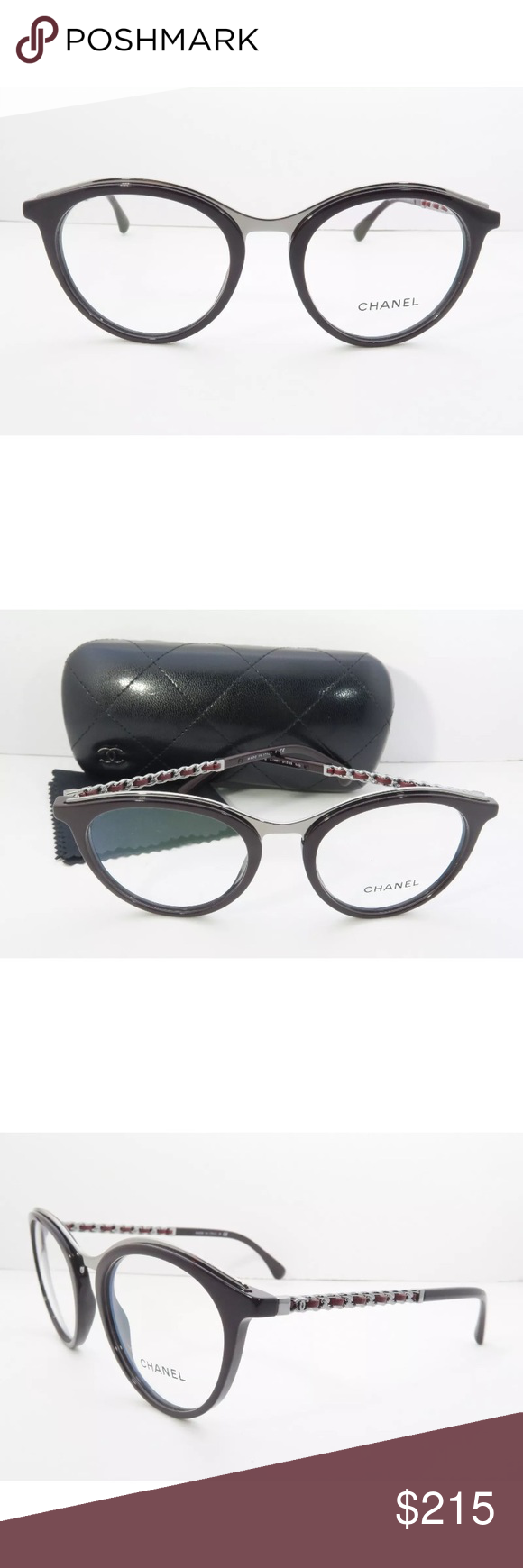 58370ea2f71 Chanel eyeglasses 3349!Burgundy Frame New with clear lens Comes with Chanel  case Authentic CHANEL