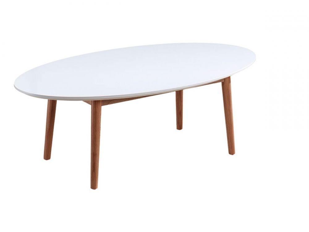 Küchentisch Ikea ~ Meran esstisch oval 190x100 cm weiß eiche massiv detail image 2